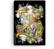"""The Illustrated Alphabet Capital   Z   """"Getting personal"""" from THE ILLUSTRATED MAN Canvas Print"""