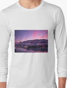 Brixham Harbour (UK) at Sunset Long Sleeve T-Shirt