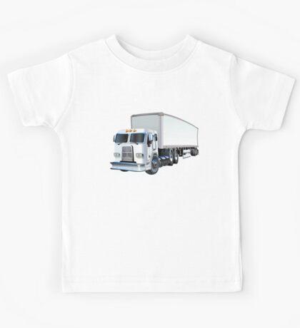 Cartoon Semi Truck Kids Tee