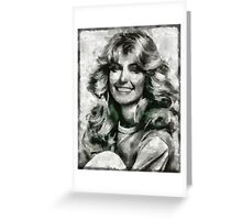 Farrah Fawcett Hollywood Actress Greeting Card