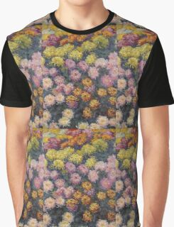 Claude Monet - Bed Of Chrysanthemums Graphic T-Shirt