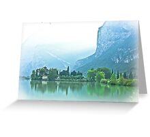 ... romantic fairytale-like fortress, Lake Toblino, Trento, Italy ~ 1 ~ Greeting Card