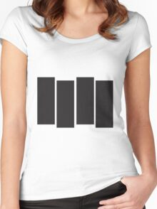 Black Flag Logo Bars Only Women's Fitted Scoop T-Shirt