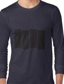 Black Flag Logo Bars Only Long Sleeve T-Shirt