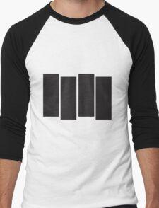 Black Flag Logo Bars Only Men's Baseball ¾ T-Shirt