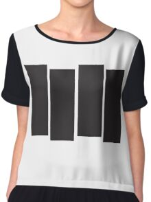 Black Flag Logo Bars Only Chiffon Top