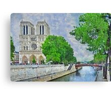 Notre Dame and the River Seine Canvas Print