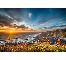 Cornwall Coastline at Sunset Photographic Print