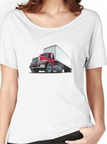 Cartoon semi truck Women's Relaxed Fit T-Shirt