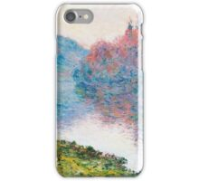 Claude Monet - Banks Of The Seine At Jenfosse Clear Weather iPhone Case/Skin