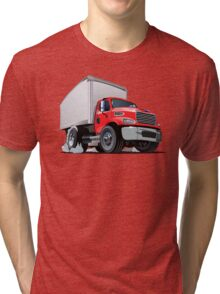 Cartoon delivery cargo truck Tri-blend T-Shirt