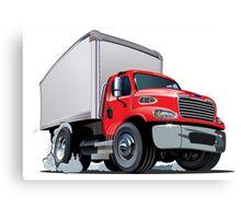Cartoon delivery cargo truck Canvas Print