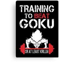 Training Goku Canvas Print