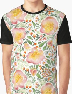 Elegant floral watercolor Graphic T-Shirt