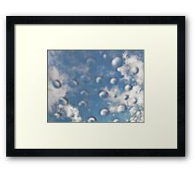 Bubbles In The Sky Framed Print