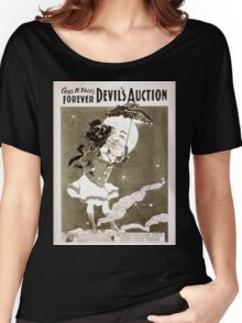 Performing Arts Posters Chas H Yales forever Devils auction 1066 Women's Relaxed Fit T-Shirt