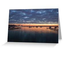 Matilda Bay sunrise Greeting Card