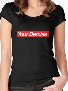 your demise logo Women's Fitted Scoop T-Shirt