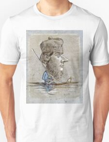 Claude Monet - A Hunter And His Dog On A Boat  Unisex T-Shirt