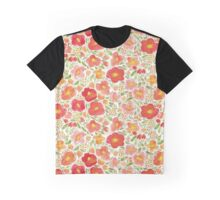 Happy watercolor flowers Graphic T-Shirt