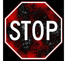 Stop Sign, Red and Black Photographic Print