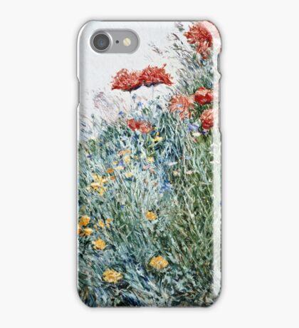 Childe Hassam - Poppies, Appledore  iPhone Case/Skin