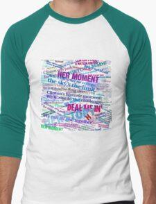 Hillary Clinton Nomination Headline Collage Men's Baseball ¾ T-Shirt