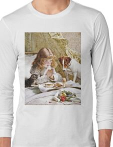 Charles Burton Barber - Suspense  Long Sleeve T-Shirt