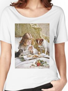 Charles Burton Barber - Suspense  Women's Relaxed Fit T-Shirt
