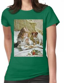 Charles Burton Barber - Suspense  Womens Fitted T-Shirt