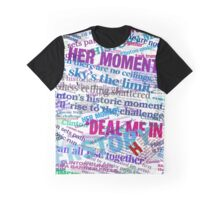 Hillary Clinton Nomination Headline Collage Graphic T-Shirt