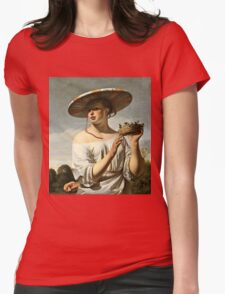 Cesar Van Everdingen - Young Woman With A Large Hat  Womens Fitted T-Shirt