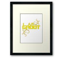 I AM GROOT Framed Print