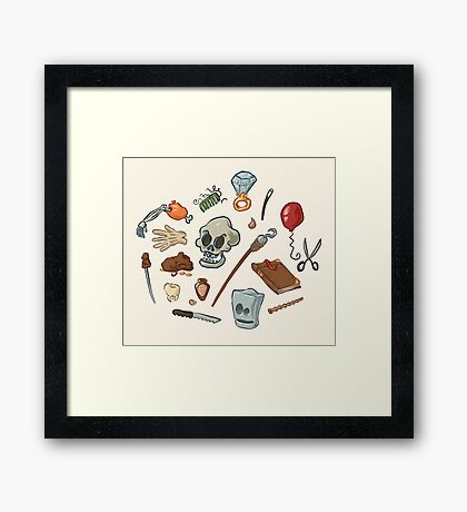 The Curse of Monkey Island Inventory (Special Edition) Framed Print