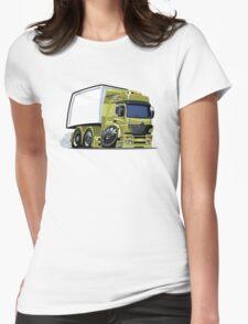Cartoon cargo truck Womens Fitted T-Shirt