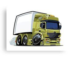 Cartoon cargo truck Canvas Print
