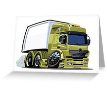 Cartoon cargo truck Greeting Card