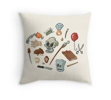 The Curse of Monkey Island Inventory (Special Edition) Throw Pillow