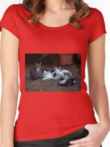 Happy family  Women's Fitted Scoop T-Shirt