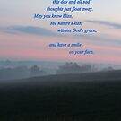 Morning Bliss Blessing While the Field Awakens by TrendleEllwood