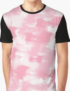 Pretty Pink White Graphic T-Shirt