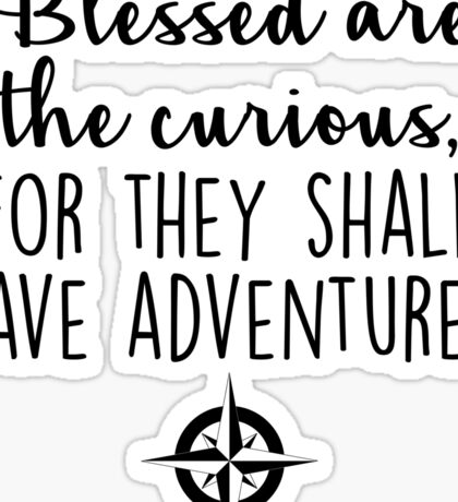 Travel - Blessed are the curious Sticker