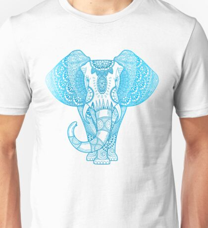 Teal Blue Elephant Unisex T-Shirt
