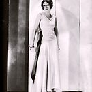 1920s Flapper Glamour Girl in a White Satin Gown by LouiseK