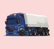 Cartoon cargo semi-truck Kids Tee