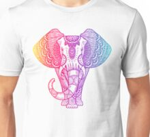 Colorful Rainbow Elephant Unisex T-Shirt