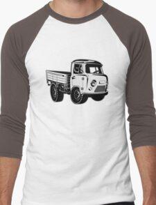 Cartoon delivery cargo pickup Men's Baseball ¾ T-Shirt