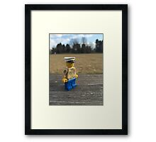 Brickography - USMC  Framed Print