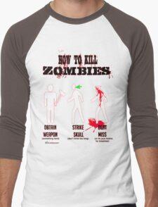 How to kill zombies Men's Baseball ¾ T-Shirt