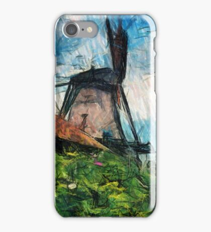 sketching windmill iPhone Case/Skin